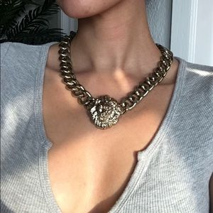 Melody ahsani lion head necklace